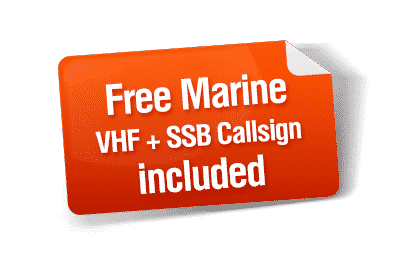 Free Marine VHF + SSB Callsign included