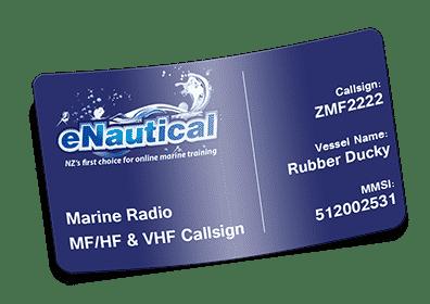 Marine MF/HF & VHF Radio Callsign + MMSI